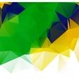 Brazil flag geometric background pattern vector image vector image