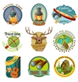 Camping Colorful Emblems