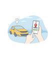 car sharing and online application concept vector image
