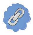 cartoon image of link icon chain symbol vector image vector image