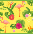 cartoon style summer seamless pattern vector image vector image