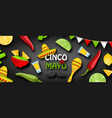 cinco de mayo - may 5 holiday in mexico mexican vector image vector image