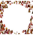 color pine tree forest round frame design vector image vector image