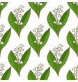 colored lily of the valley pattern in hand drawn vector image