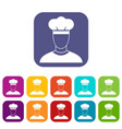 cook icons set vector image vector image
