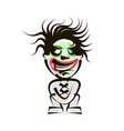 cool cartoon black monster face vector image