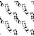 decorative doodle socks black and white seamless vector image vector image