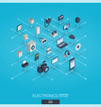 electronics integrated 3d web icons digital vector image