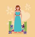 flat design wedding people image vector image