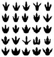 footprints dinosaurs vector image vector image