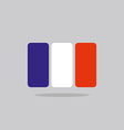 France flag stylized French flag of geometrical vector image