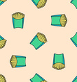 french fries colored seamless pattern vector image vector image