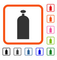 gas cylinder framed icon vector image