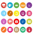 General learning flat icons on white background vector image vector image
