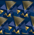 gold and blue elegant geometric seamless pattern vector image vector image
