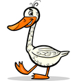 goose farm bird cartoon vector image vector image