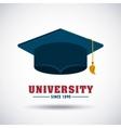 graduation celebration design vector image