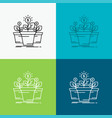 growth money plant pot tree icon over various vector image