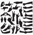 hand sign silhouettes vector image