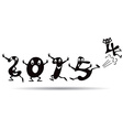 Happy New Year 2015 - cartoon style vector image vector image