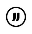 initial alphabet jj logo design icon vector image