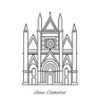 italy siena cathedral line vector image