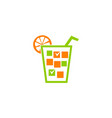 juice event organizer vector image vector image