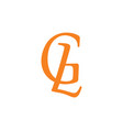 letters gl linked simple logo vector image vector image