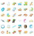 mechanic auto icons set cartoon style vector image vector image