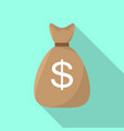 money bag icon flat style vector image