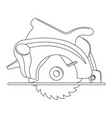 monochrome of a circular saw vector image