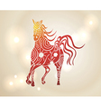 Multicolor Chinese New Year of horse 2014 vector image