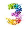 number 3 from butterfly vector image vector image