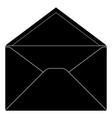 open envelope black sign vector image