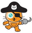 Pirates Cat vector image