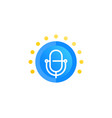 podcast logo icon vector image vector image