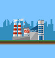 power plant in city vector image vector image