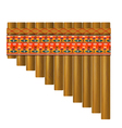 Realistic portrayal of the pan flute vector image vector image