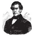 rear admiral charles wilkes vintage vector image vector image
