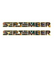 september word decorated with flowers and leaves vector image vector image