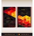 set abstract geometric business card vector image vector image