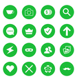 set of flat web icons vector image vector image