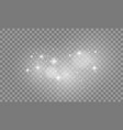 set white lights effects isolated on vector image vector image