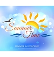 Shining summer time typographical background with vector image