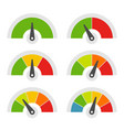 speed meter icons set on white background vector image