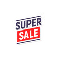 super sale banner poster background sale vector image vector image