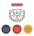 trophy cup icon outline pictogram vector image vector image