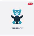 two color teddy bear toy icon from toys concept vector image vector image