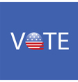 United States Election Vote Button vector image vector image