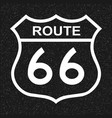 us route 66 sign vector image